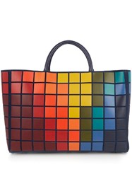 Anya Hindmarch Pixels Featherweight Ebury Maxi Suede Tote Blue Multi