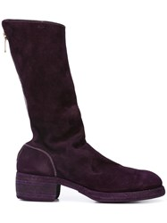 Guidi Zipped Boots Pink And Purple