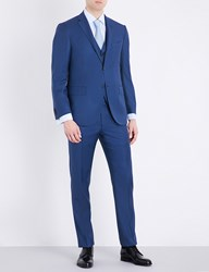 Corneliani Sharkskin Academy Fit Wool Suit Bright Blue