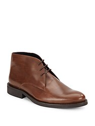 Bugatchi Lace Up Style Leather Dress Shoes Brown