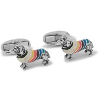 Paul Smith Silver Tone And Enamel Cufflinks Silver
