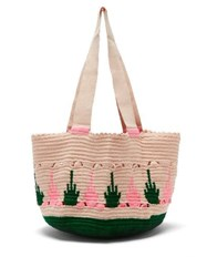 Sophie Anderson Hoyas Woven Tote Bag Green Multi