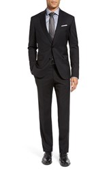 Ted Baker Men's Big And Tall London 'Jones' Trim Fit Wool Suit Black