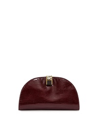 Etienne Aigner Crown Leather Mini Clutch Cordovan