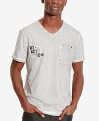 Kenneth Cole Reaction Men's Stone Washed Logo Graphic T Shirt Seagull