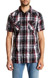 Burnside Plaid Short Sleeve Shirt Red
