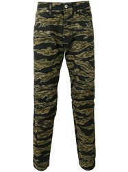 G Star Camouflage Print Trousers Black