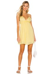 Amuse Society Day Tripper Strappy Dress Yellow