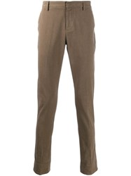Dondup Slim Fit Tailored Trousers Brown