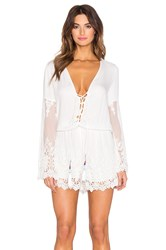 Young Fabulous And Broke Kris Romper White