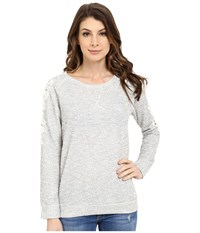 Mavi Jeans Lace Detailed Sweater Grey Melange Women's Sweater Gray
