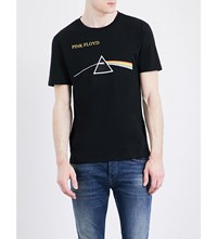 Sandro Pink Floyd Pure Cotton T Shirt Black