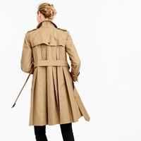 J.Crew Pleated Trench In Superdry Cotton