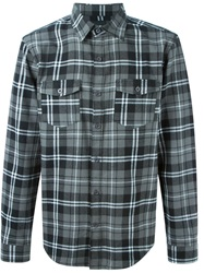 Les Artists Les Art Ists Plaid Shirt Grey