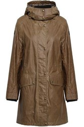 Belstaff Coated Cotton Hooded Raincoat Army Green