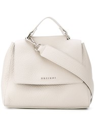 Orciani Logo Plaque Tote Bag Women Leather One Size Nude Neutrals