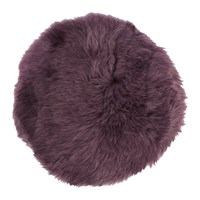 Amara New Zealand Sheepskin Seat Pad Long Wool Aubergine