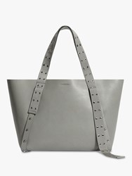 Allsaints Sid East West Leather Tote Bag Blue Grey