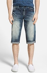 Men's Prps 'Byrony' Cutoff Denim Shorts Medium Blue