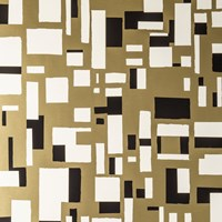 Flavor Paper City Of Light Wallpaper Sample Swatch Lynx On Matte Gold Mylar Sample