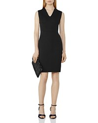 Reiss Tilly Neoprene Sheath Dress Black