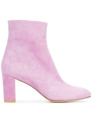 Maryam Nassir Zadeh Agnes Ankle Boots Women Leather Suede 37 Pink Purple