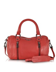 Zadig And Voltaire Xs Sunny Leather Satchel W Shoulder Strap Red