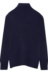 Equipment Oscar Cashmere Turtleneck Sweater Navy