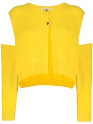 Dorothee Schumacher Cutout Detail Cardigan Yellow