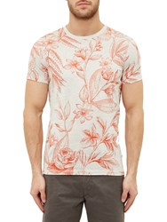 Ted Baker Peggi Floral T Shirt Coral