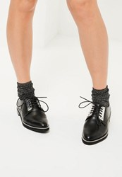 Missguided Black Chain Outsole Detail Brogues