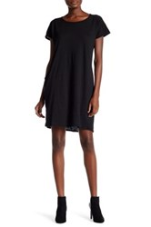 Allen Allen Round Neck Shirt Dress Black