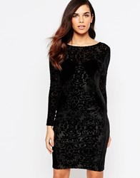 Lashes Of London Velvet Burnout Dress Black