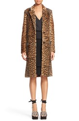 Women's Alexander Wang Cheetah Print Genuine Kangaroo Fur Coat