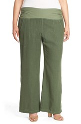 Plus Size Women's Xcvi Wearables 'Redlands' Wide Leg Linen Pants