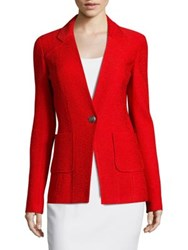 St. John Claire V Neck Jacket African Red