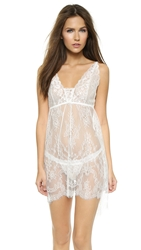 Hanky Panky Victoria Lace Chemise With G String Light Ivory