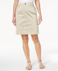 Charter Club Comfort Waist Skort Only At Macy's Sand