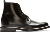Carven Black Leather Minimal Ankle Boots