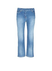 Valentino 'Rockstud Untitled 06' Cropped Straight Jeans Blue