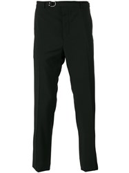 Valentino D Ring Belted Trousers Black
