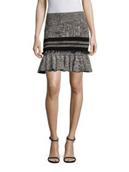 Alexander Mcqueen Peplum Mini Skirt Black Grey