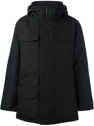 Canada Goose Hooded Zipped Coat Black