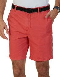 Nautica Flat Front Cotton Shorts Sailor Red
