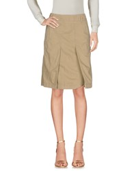 Aspesi Knee Length Skirts Military Green