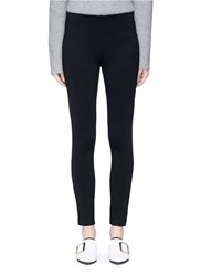 Theory 'Navalane K' Ponte Knit Leggings Black
