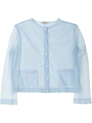 Nina Ricci Sheer Cardigan Blue