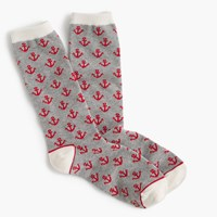 J.Crew Trouser Socks In Anchor Print