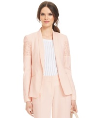Laundry By Shelli Segal Lace Detail Long Sleeve Button Front Jacket