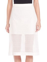 Set Sheer Paneled Pencil Skirt